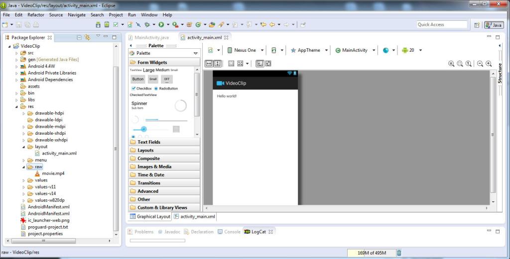 Redarea unui clip video în Android pas1